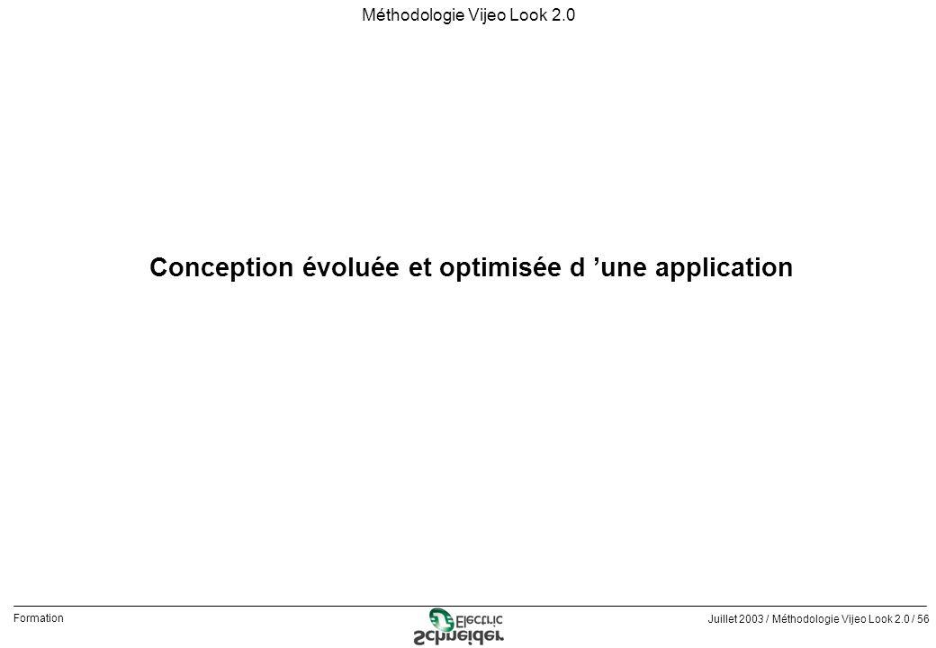 Conception évoluée et optimisée d 'une application