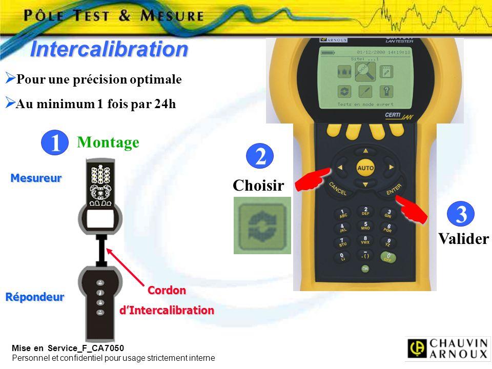     1 2 3 Intercalibration Montage Choisir Valider