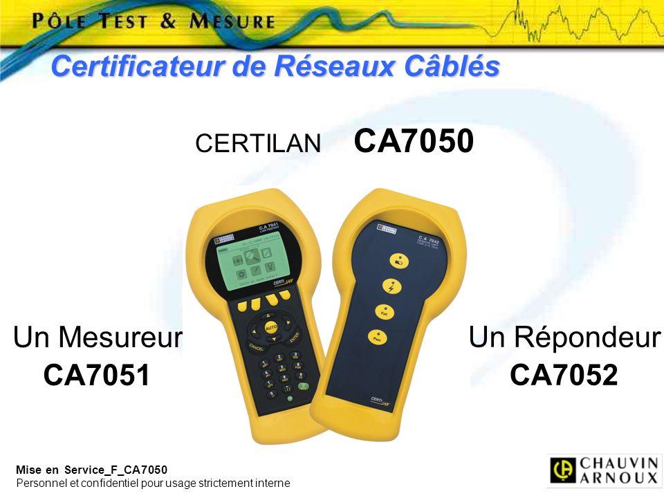 Certificateur de Réseaux Câblés