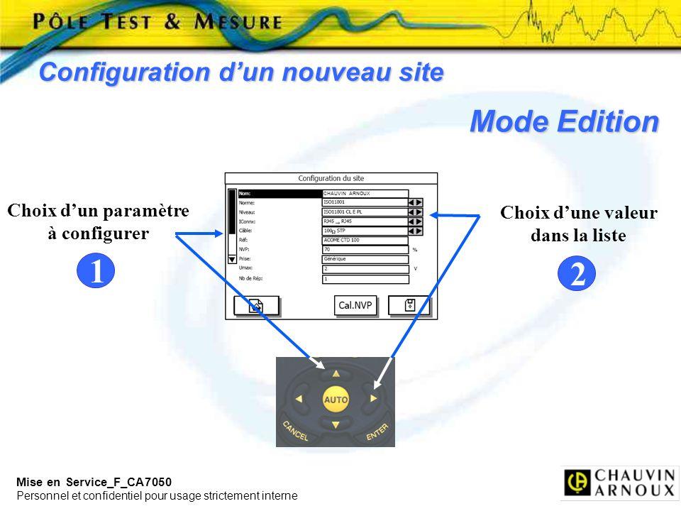 1 2 Mode Edition Configuration d'un nouveau site