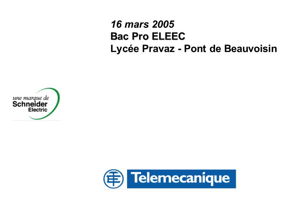 16 mars 2005 Bac Pro ELEEC Lycée Pravaz - Pont de Beauvoisin