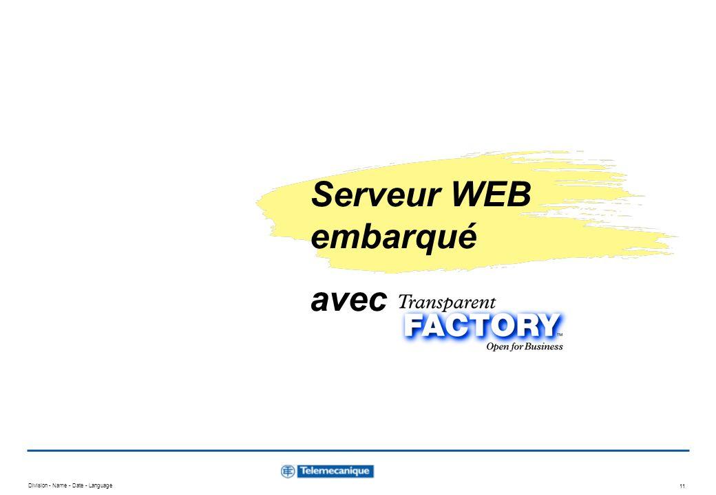 Serveur WEB embarqué avec