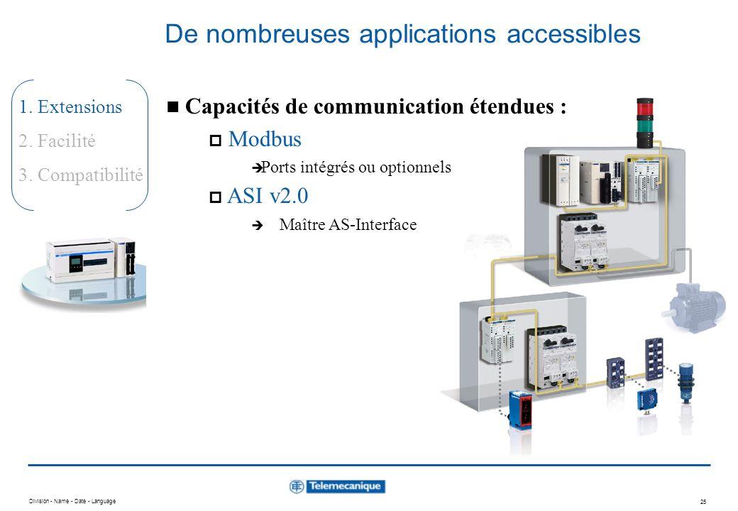 De nombreuses applications accessibles