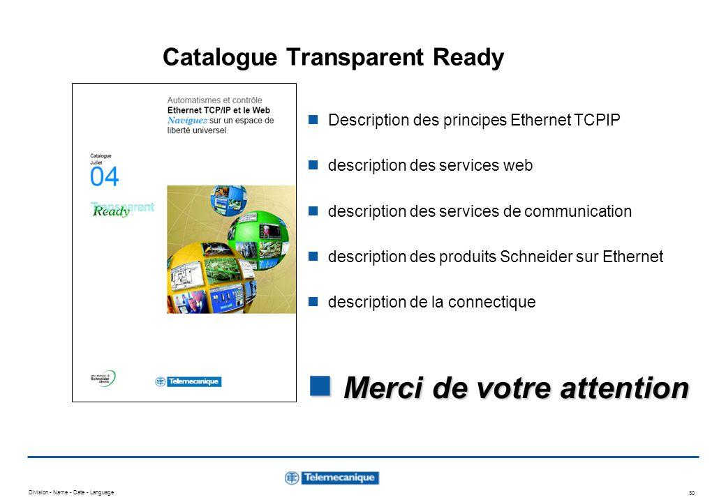 Catalogue Transparent Ready