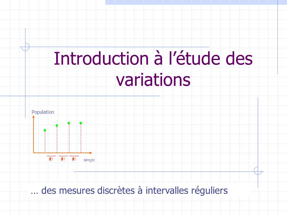 Introduction à l'étude des variations