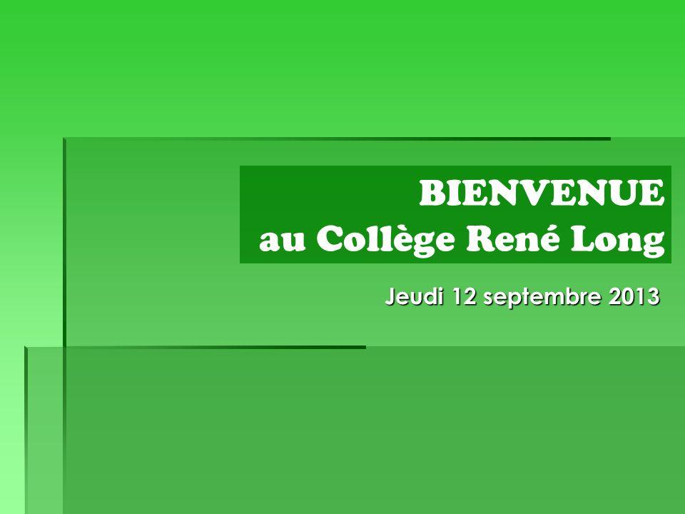 BIENVENUE au Collège René Long