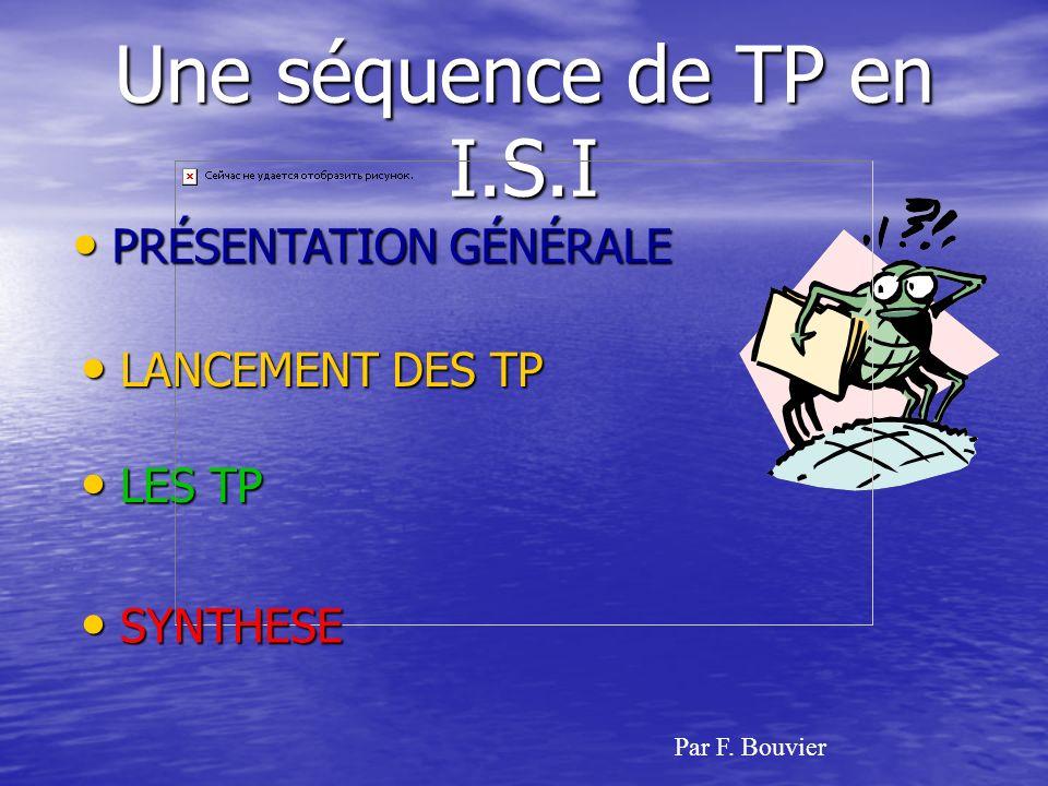 Une séquence de TP en I.S.I