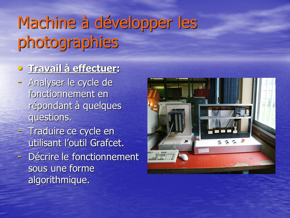 Machine à développer les photographies