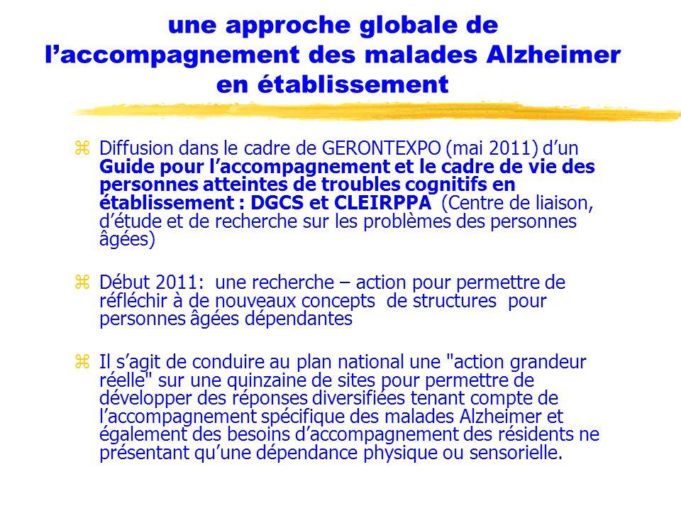 une approche globale de l'accompagnement des malades Alzheimer en établissement