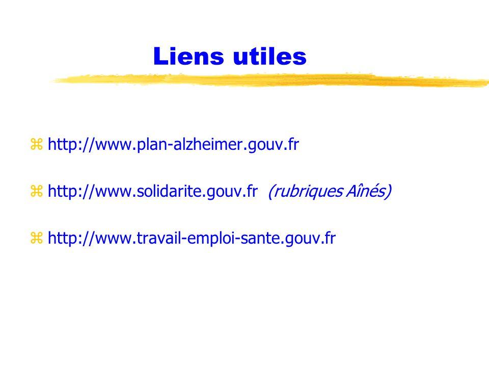 Liens utiles http://www.plan-alzheimer.gouv.fr