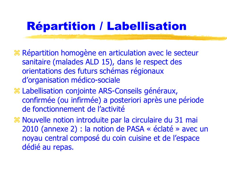 Répartition / Labellisation