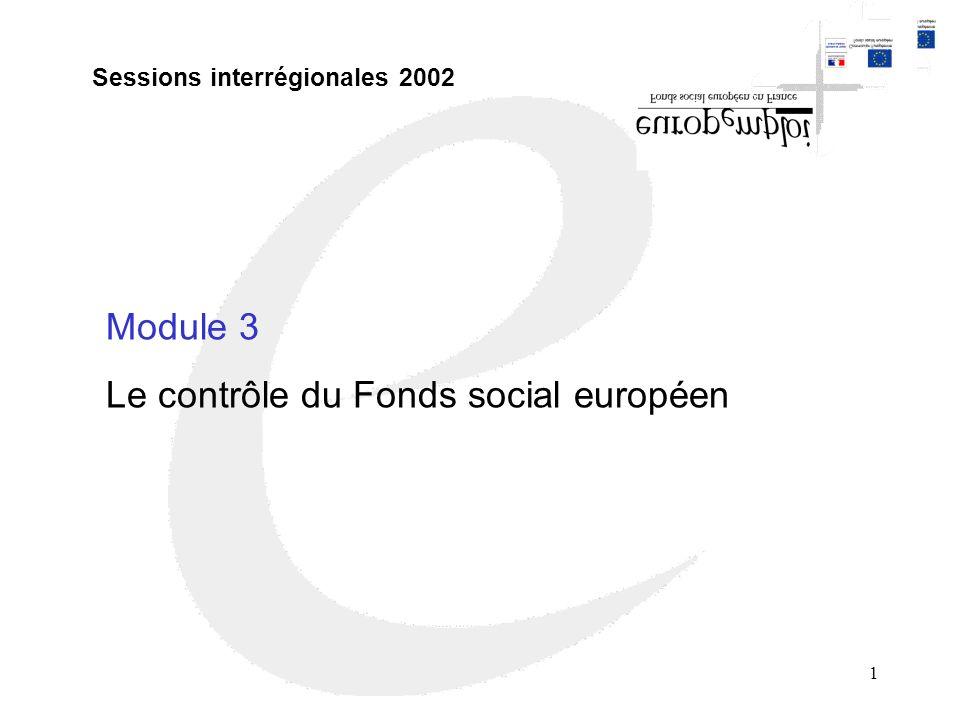 Le contrôle du Fonds social européen