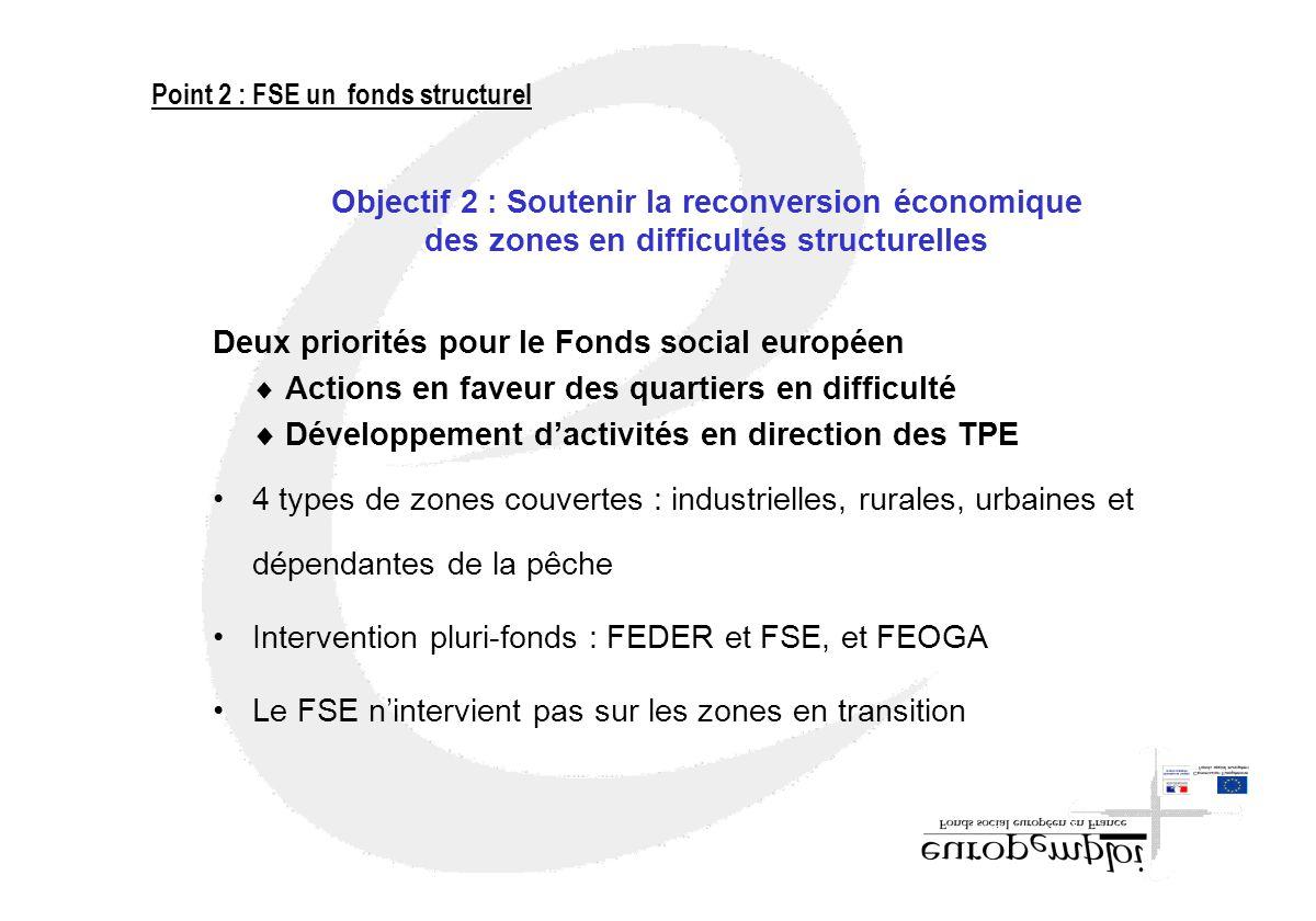 Deux priorités pour le Fonds social européen