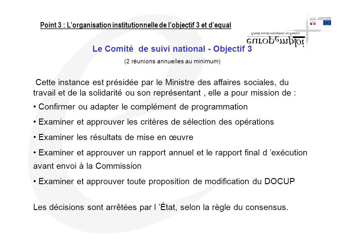Le Comité de suivi national - Objectif 3