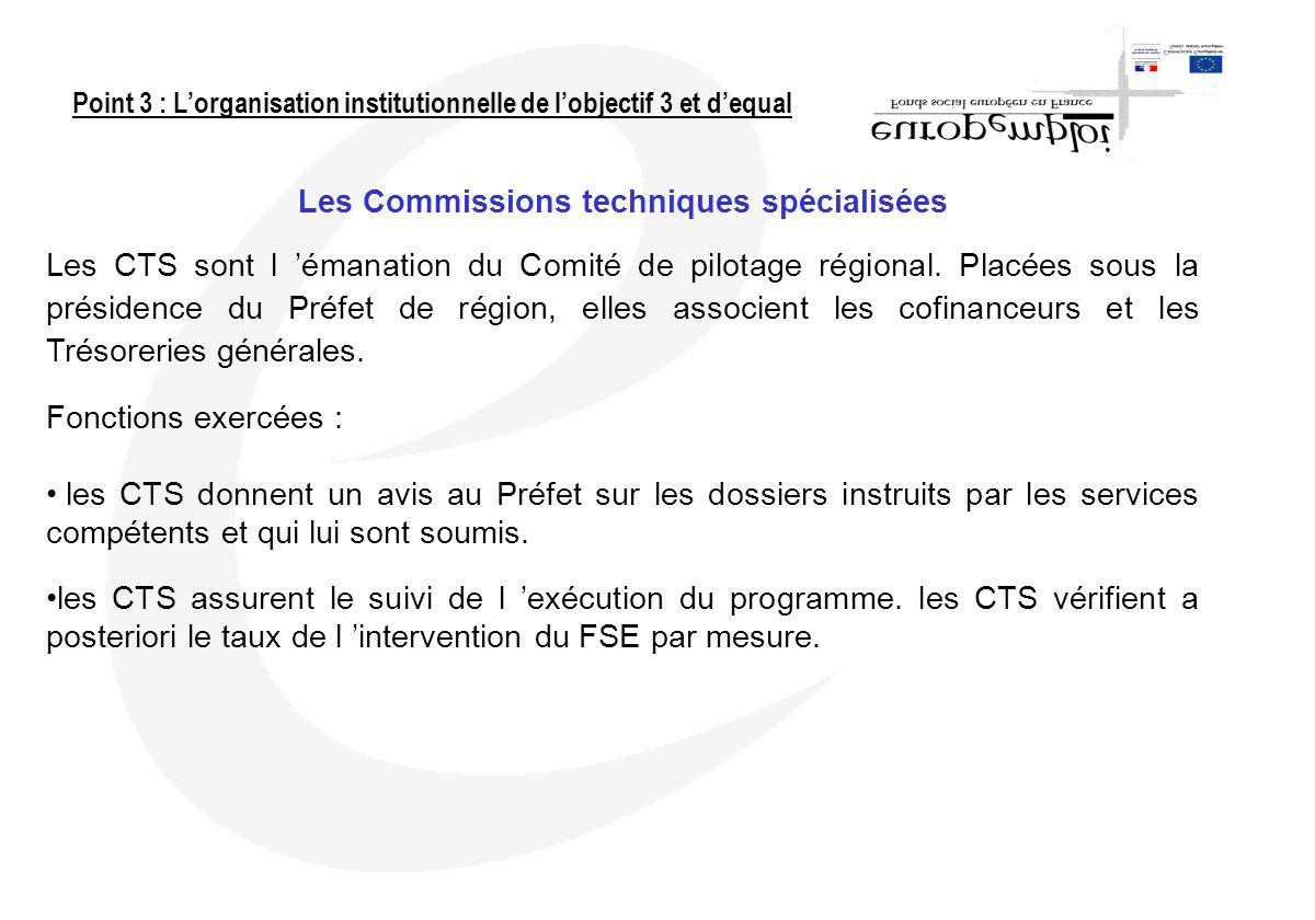 Les Commissions techniques spécialisées