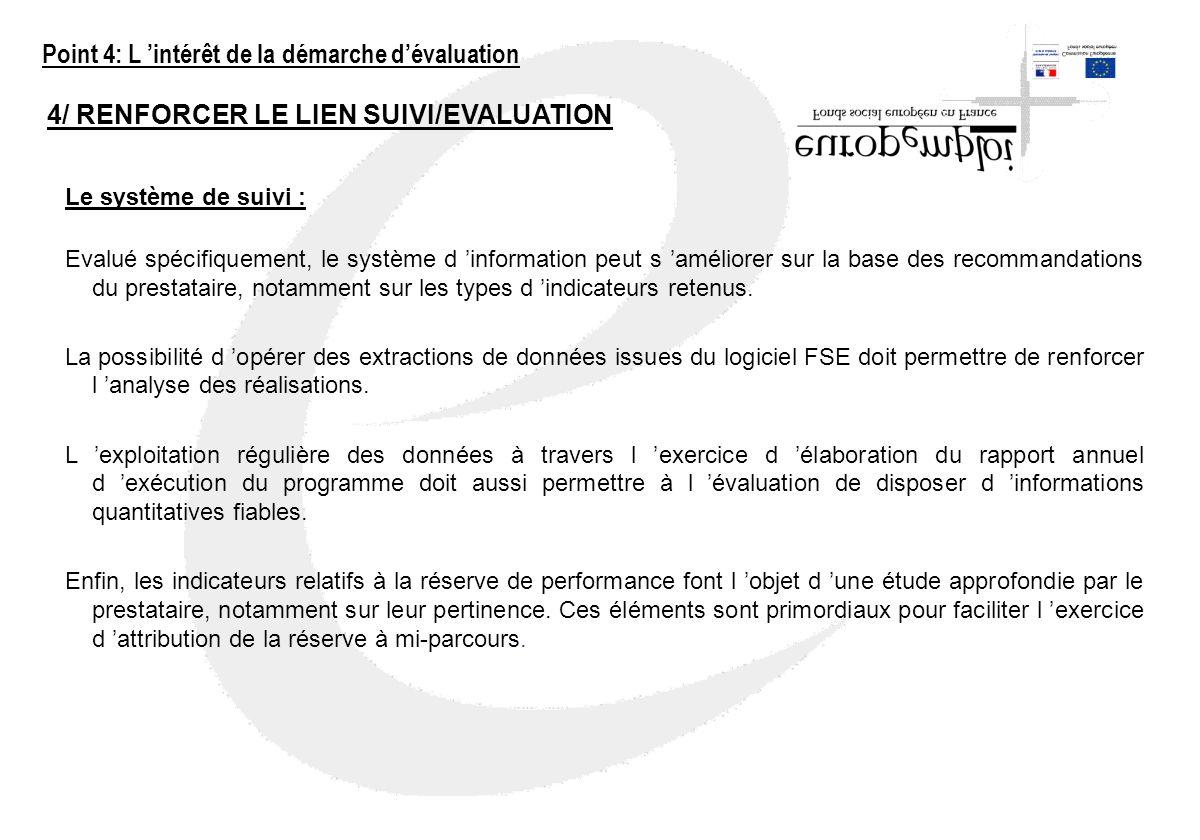 Point 4: L 'intérêt de la démarche d'évaluation