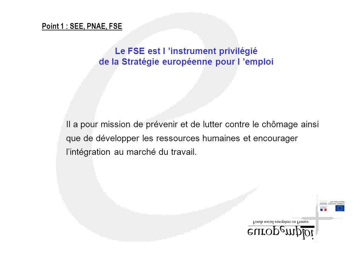 Le FSE est l 'instrument privilégié
