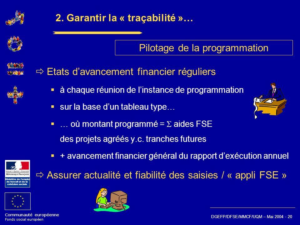 2. Garantir la « traçabilité »…