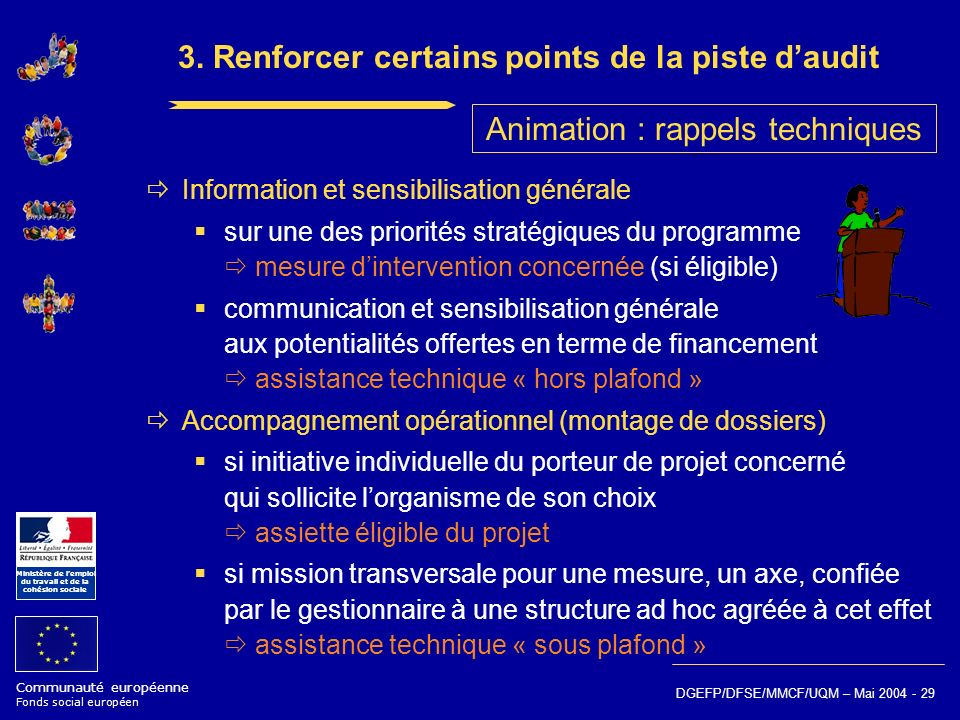 3. Renforcer certains points de la piste d'audit