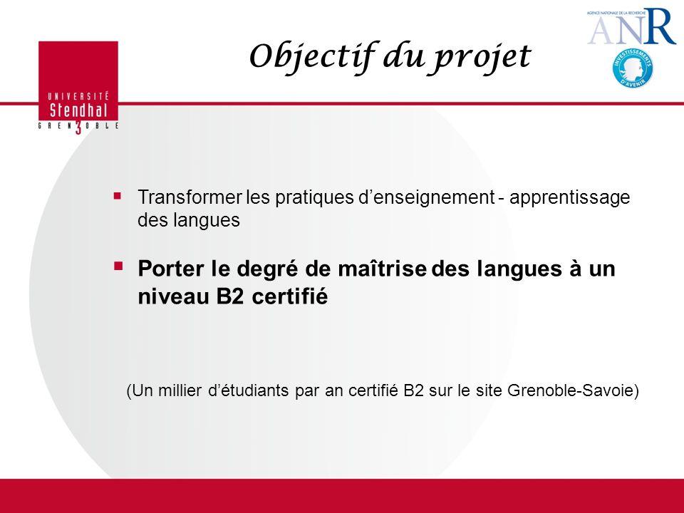 Objectif du projet Transformer les pratiques d'enseignement - apprentissage des langues.