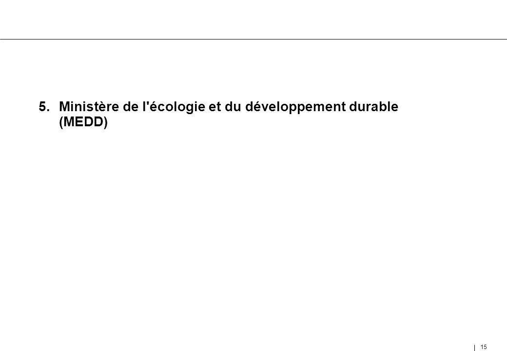 5. Ministère de l écologie et du développement durable (MEDD)