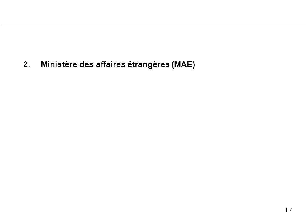 2. Ministère des affaires étrangères (MAE)