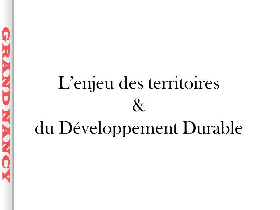 L'enjeu des territoires & du Développement Durable