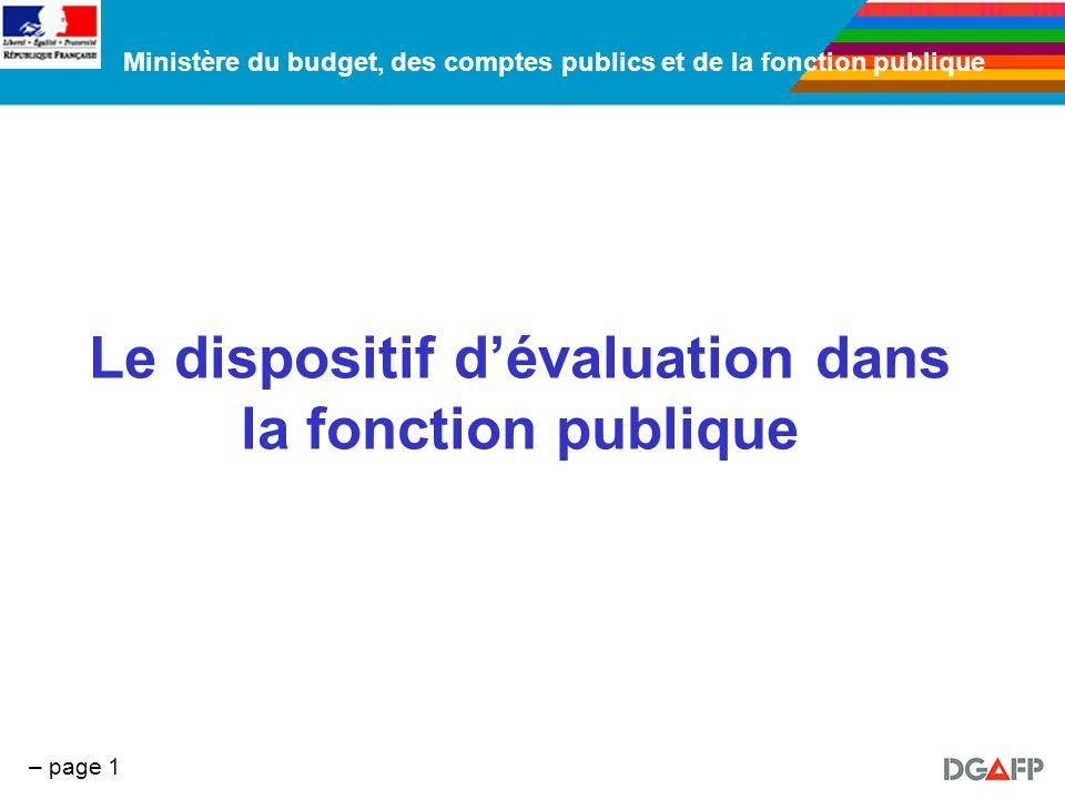 Le dispositif d'évaluation dans la fonction publique