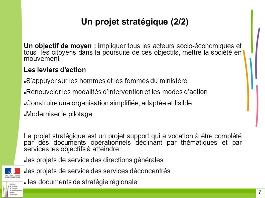 Un projet stratégique (2/2)
