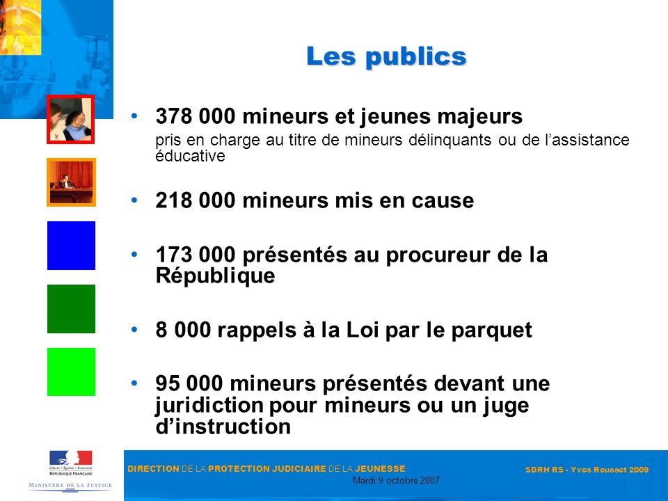 Les publics 378 000 mineurs et jeunes majeurs