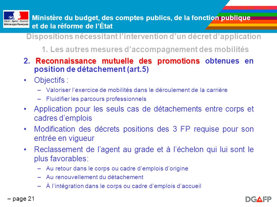 Dispositions nécessitant l'intervention d'un décret d'application 1