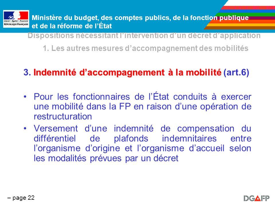 3. Indemnité d'accompagnement à la mobilité (art.6)