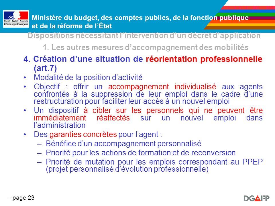 4. Création d'une situation de réorientation professionnelle (art.7)