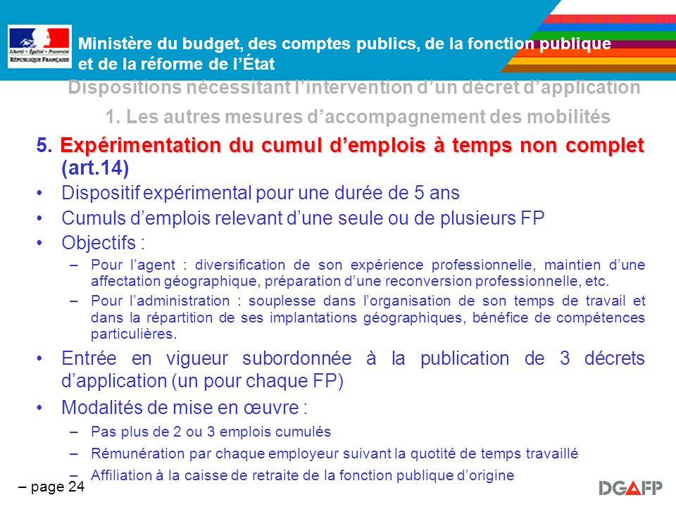 5. Expérimentation du cumul d'emplois à temps non complet (art.14)
