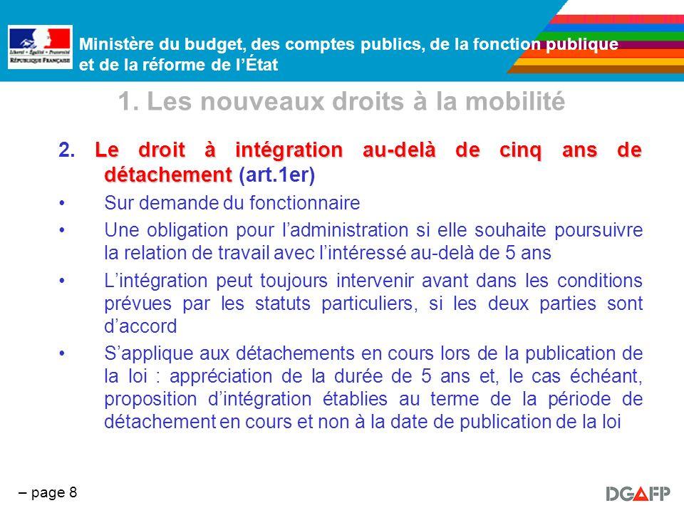 1. Les nouveaux droits à la mobilité