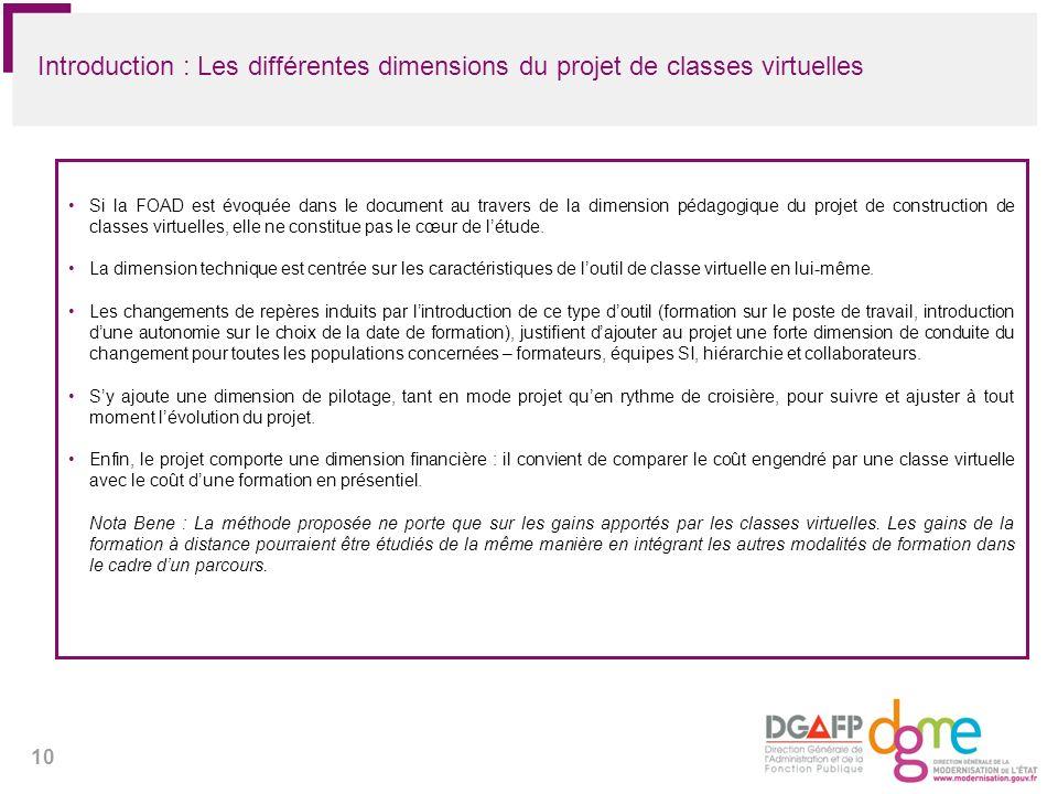 Introduction : Les différentes dimensions du projet de classes virtuelles