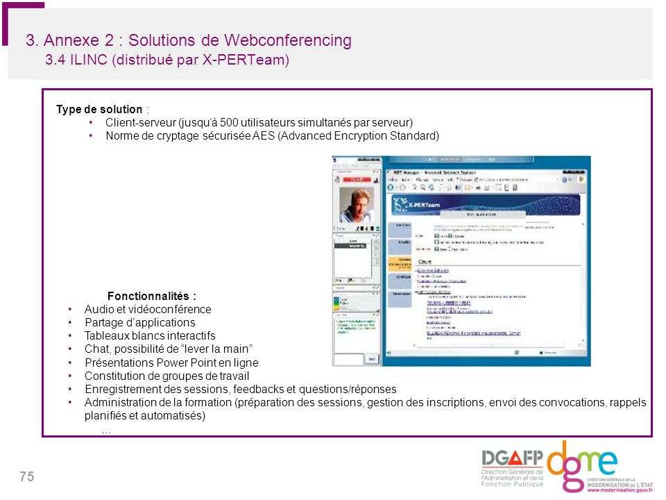 3. Annexe 2 : Solutions de Webconferencing 3