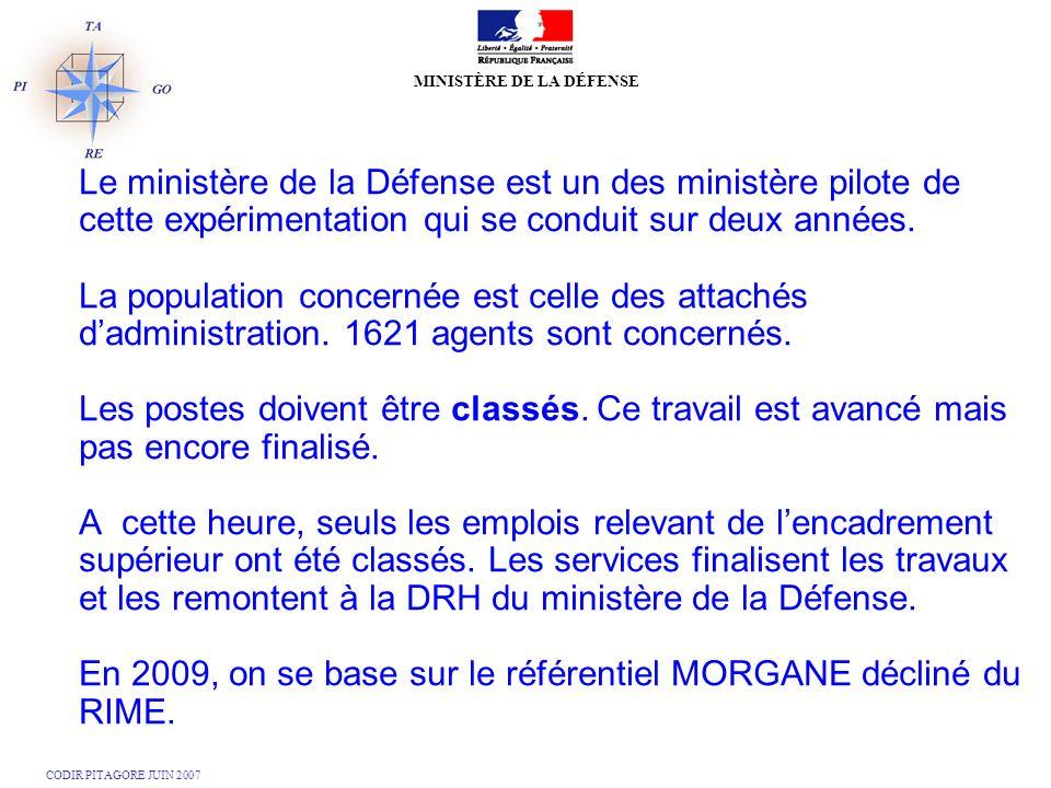 Le ministère de la Défense est un des ministère pilote de cette expérimentation qui se conduit sur deux années.