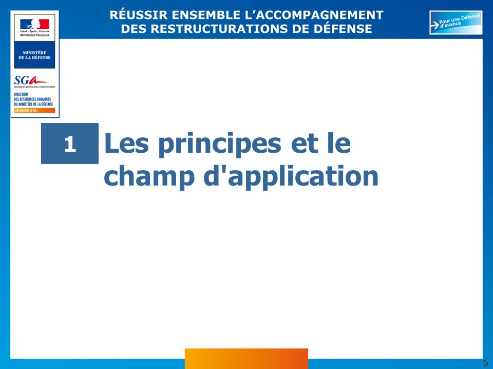 Les principes et le champ d application