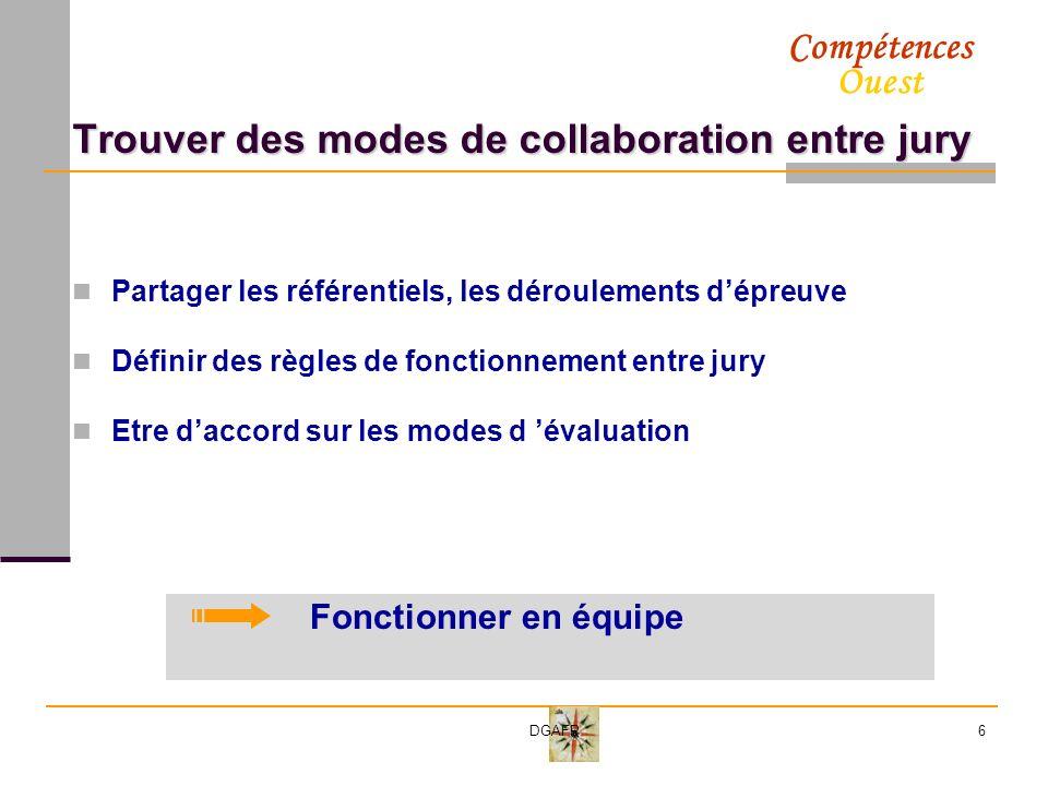 Trouver des modes de collaboration entre jury