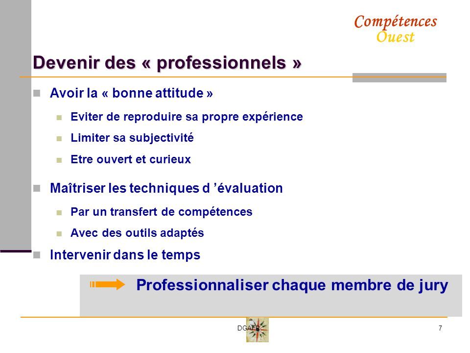 Devenir des « professionnels »