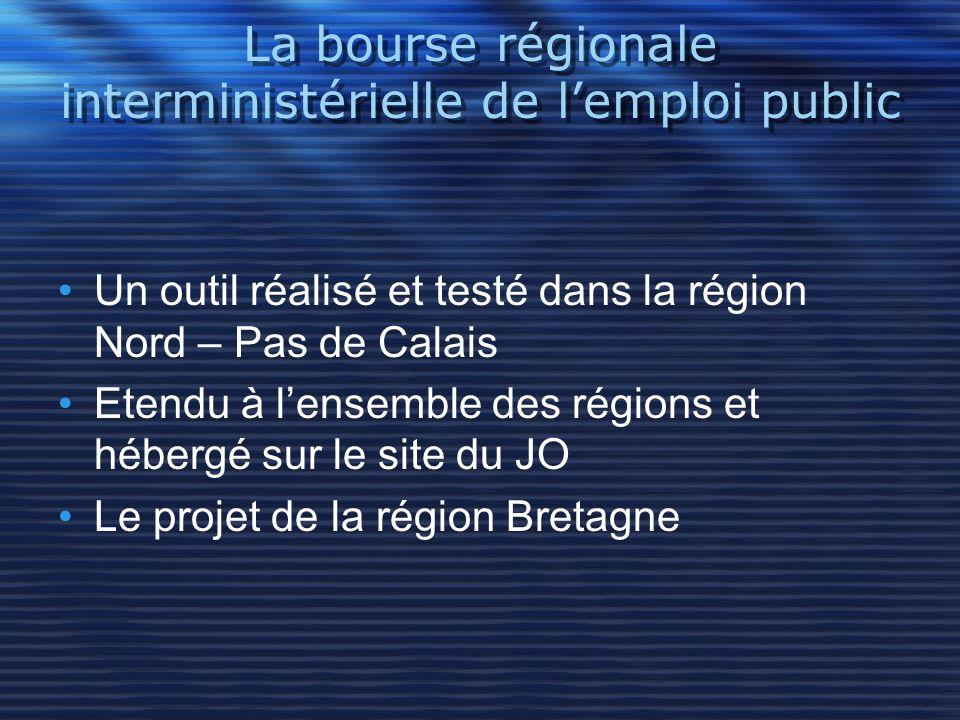 La bourse régionale interministérielle de l'emploi public