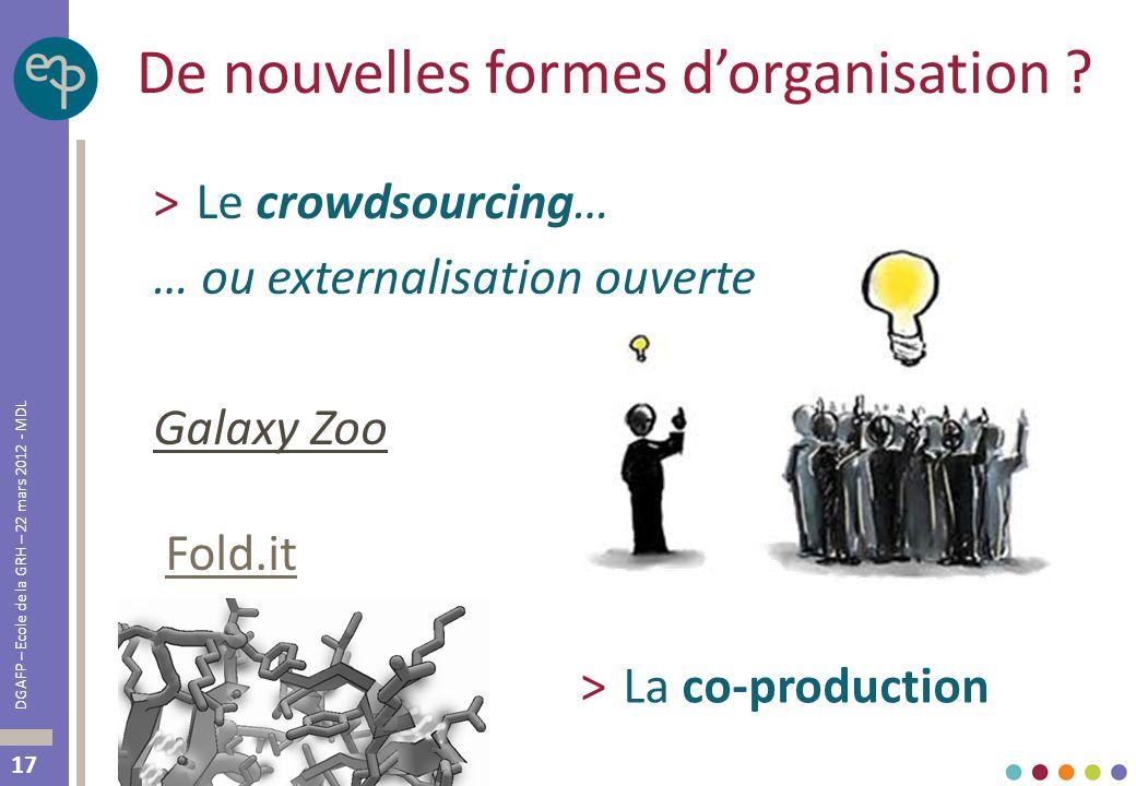 De nouvelles formes d'organisation
