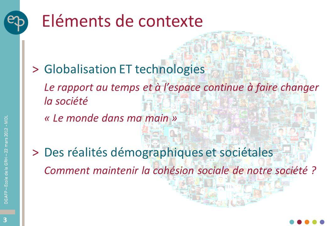 Eléments de contexte Globalisation ET technologies