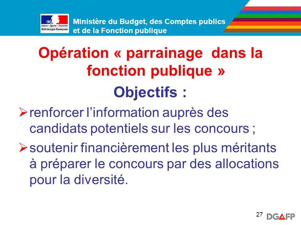 Opération « parrainage dans la fonction publique »