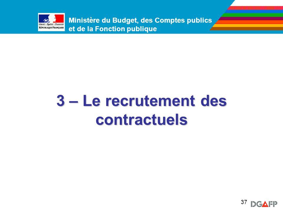 3 – Le recrutement des contractuels
