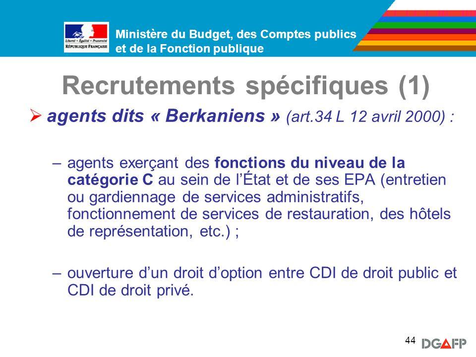 Recrutements spécifiques (1)