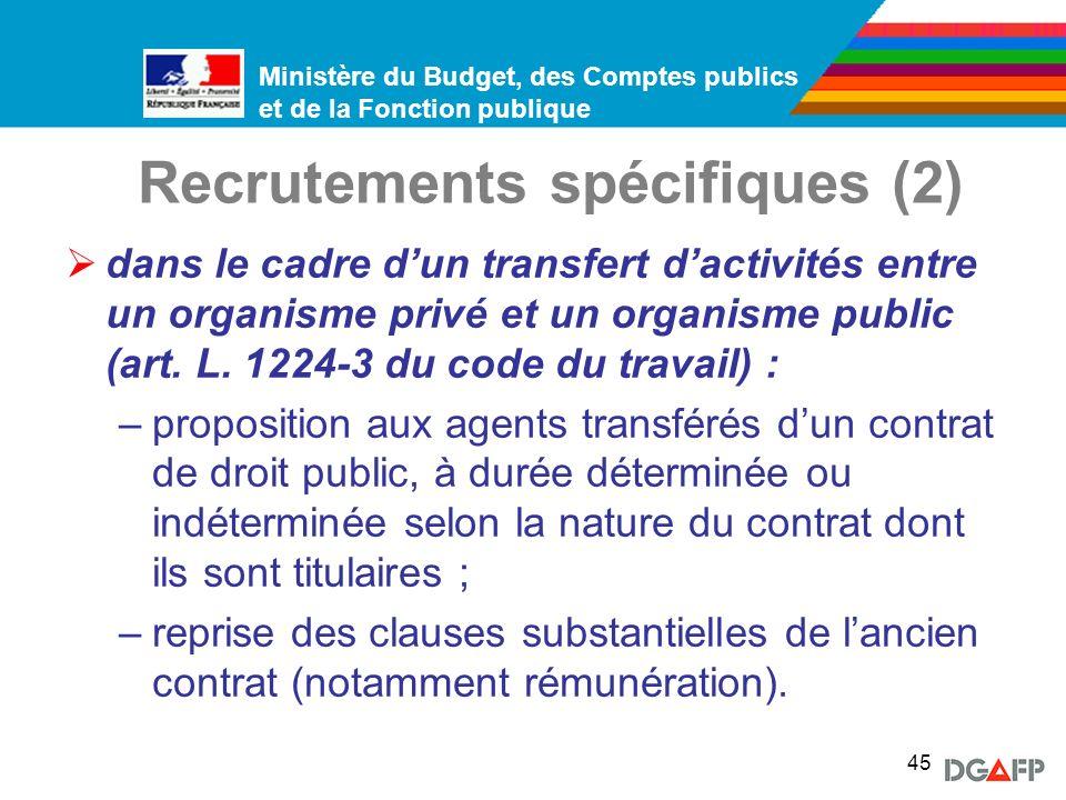 Recrutements spécifiques (2)
