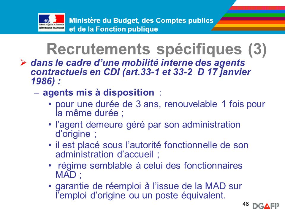 Recrutements spécifiques (3)