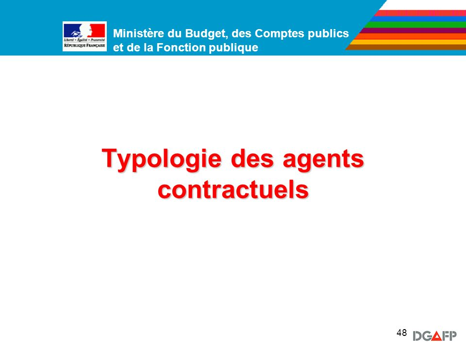 Typologie des agents contractuels